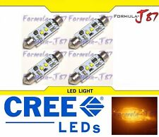 LED Light Canbus Error Free 212-2 6W Amber Orange Four Bulbs Dome Map Step