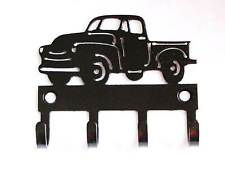 Metal ANTIQUE PICKUP TRUCK Hooks Old Truck Sign Old Pickup Wall Art Truck Gift