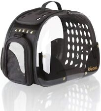 Ibiyaya Transparent Hardcase Carrier for Dogs, Cats, Rabbit with handle and Mesh