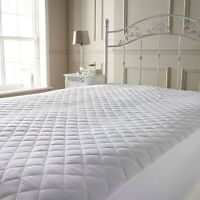 EXTRA DEEP LUXURY QUILTED MATTRESS PROTECTOR FITTED COVER ANTI ALLERGY All SIZES