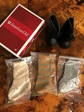 NEW American Girl Kirsten Boots and Socks Set - NIB Meet Brand New Hard to Find