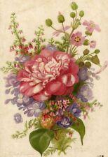 Décoration Fleur Bouquet Journal des fleurs Lithographie XIXe