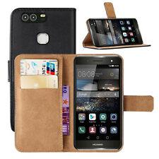 Custodia Huawei P9 PLUS Flip Cover Libro Portafoglio Eco Pelle Magnetica Nero