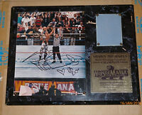 WWE PLAQUE WRESTLEMANIA XII 12 SHAWN MICHAELS FRAMED COA SIGNED AUTOGRAPH 1996