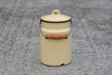 More details for vintage enamel milk churn can milkchurn milk pot with lid - 3l - free postage