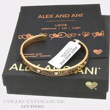Authentic Alex and Ani Love Cuff Rafaelian Gold Bangle