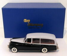 Top Marques 1/43 Scale - 1959 Rolls Royce Phantom V Hearse - Black/Grey