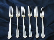 Fairfax by Durgin sterling forks mono (6) spoons silver 7 1/8 inches