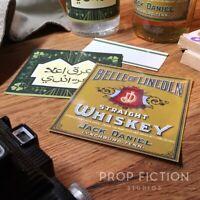 Indiana Jones: Raiders of the Lost Ark - Prop Whiskey & Belloq Bottle Label Set