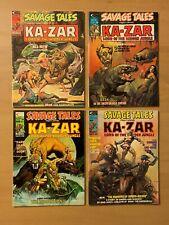 MARVEL SAVAGE TALES feat KA-ZAR LORD HIDDEN JUNGLE 4 comic magazine LOT 6 7 9 10