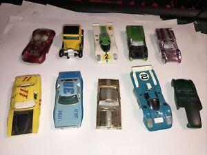 VINTAGE TJET AURORA AFX TYCO SLOT CAR JUNKYARD LOT  2
