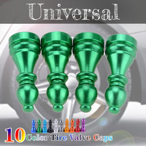 Auto Car Tire Tyre Green Wheel Air Port Dust Cover Trim Valve Stem Caps Alloy