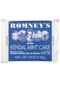 Kendal Mint Cake Romney's White Kendal Mintcake  Pack of  4 x 85g Bars