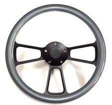 Dodge Challenger Charger Carbon Fiber Steering Wheel Blk Pwdr Coat Full Kit