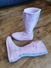 Adidas Originals Trefoil Arosa Size UK 7.5 EU 41 Women's Solid Pink Suede Boots