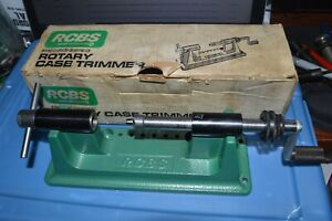 NICE!!!!  RCBS ROTARY CASE TRIMER W/ PILOT #277 CAL. & COLLET #2