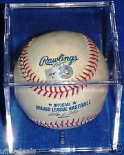 BREWERS NEW YORK METS GAME USED GU BASEBALL MLB HOLO YOVANI GALLARDO TEJADA CASE