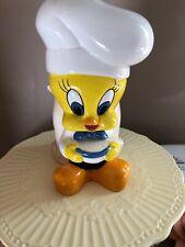 TWEETY BIRD WARNER BROTHERS Kitchen Collectibles Ceramic Utensil Holder Chef
