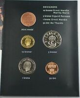 2003 Swedish Mint Set 4 BU Coins with a Mint Token