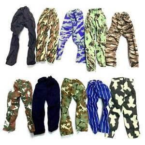 10x 1/6 Trousers Pants Fits 12'' Gi Joe Action Man Ultimate Soldiers Accessory
