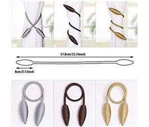 Valea Home 2 Pcs Curtain Tiebacks Clips Creative Window Drape Twist Tie Backs
