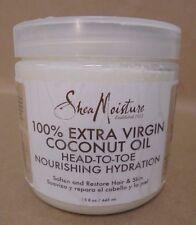 Shea Moisture 100% Extra Virgin Coconut Oil  Head To Toe Hydration 15 oz New