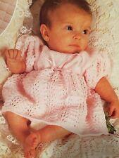 Premature - 6months Bany Dress Knitting Pattern