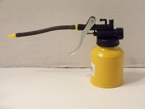 Oil Can Flexible Spout YELLOW 6.3oz Thumb Pump Oil Oiler Squirt Squeeze Trigger