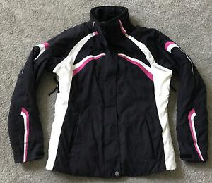 Womens Fera Alpine Ski Jacket Snow Skiing White Black Pink Small 4 Thermolite no