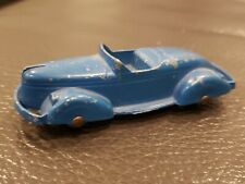 """Vintage 1940s Diecast Tootsietoy 3"""" Boat Tail Roadster Blue"""