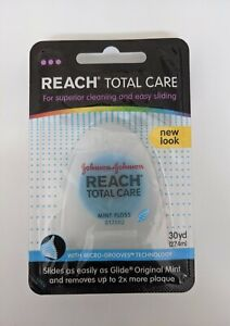 NEW Reach Total Care Mint Floss, Blue With Micro-Grooves 30 yd Johnson & Johnson