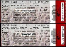 2 Linkin Park Tickets Rare Unused Projekt Revolution Jul 26 2008 Virginia Beach