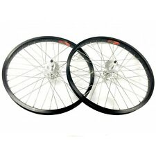 Old School BMX Araya Wheel Set Front/rear Tb-507x 7x Alloy Black With TNT Hubs