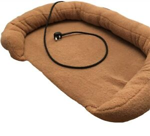 Heated Pet Bed, Cat, Dog, Puppy, Kitten Electric Heated Pad, Soft, Low, Sandy