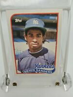 1989 Topps Baseball Traded #110T DEION SANDERS ROOKIE Yankees RC NICE