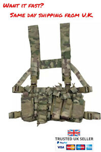 TACTICAL CHEST RIG UTILITY VEST AIRSOFT ARMY CAMO BLACK MULTICAM CP BCP MOLLE