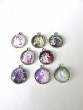 8pc handmade 16mm unicorn charms
