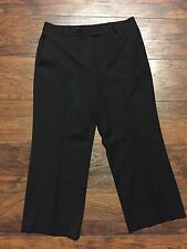 Pre-owned Women's Brooks Brothers Caroline Fit Black Pants, Size 10