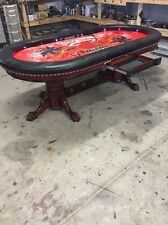 Deluxe 4 x 8 custom poker tables by kandjpokertables.com