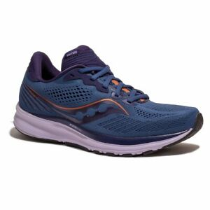 Saucony Womens Ride 14 Running Shoes - Midnight/Copper