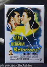 "Notorious Movie Poster 2"" X 3"" Fridge / Locker Magnet."