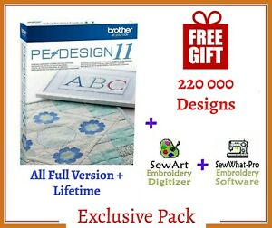 Brother PE Design 11 Software Embroidery ⭐+220 000 Designs ⭐ INSTANT DELIVREY⭐