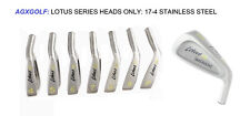 AGXGOLF LOTUS SERIES IRONS SET 3-PW HEADS ONLY! 17-4 STAINLESS STEEL .370 HOSEL