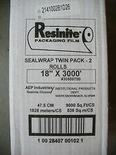 Aep Resinite Sealwrap Packaging Film Twin Pack 18 Inch X 3000 Feet 30500700