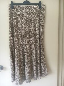 Witchery Leopard Printed A-Line Midi Skirt Size 14