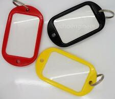 3 x Huge  ID Key Ring Tags or Fobs for Hotels Offices, Luggage Labels etc