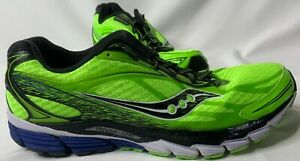 Men's Saucony Ride 8 Power Grid Neon Green Running Shoes Size 12 S20273-5