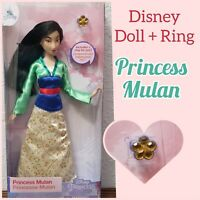"Disney Parks Princess Classic 11.5"" Dolls With Rings Mulan"