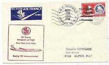 CPA PK AK FDC AVION AVIATION AIR FRANCE 1er VOL BOEING 707 NEW YORK-PARIS-NICE