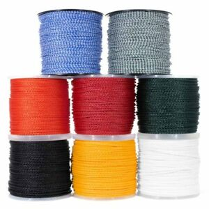 Hollow Braid Polypropylene Rope, Marine Rope – Large Variety of Colors and Sizes